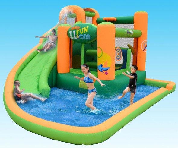 piscine gonflable avec tobogan