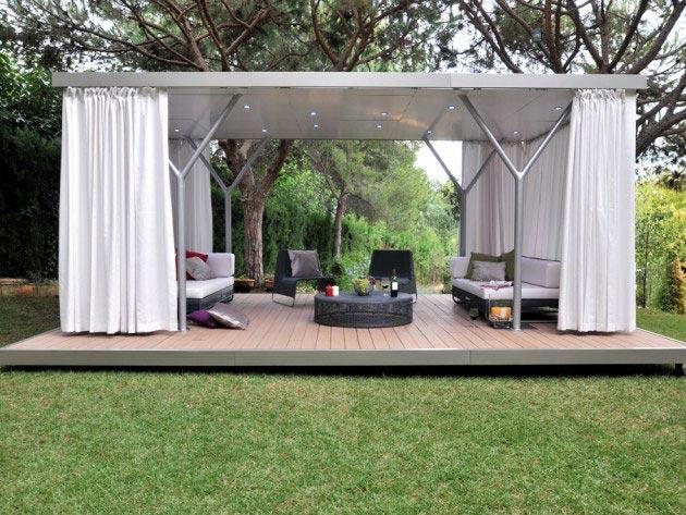 Tente de jardin design