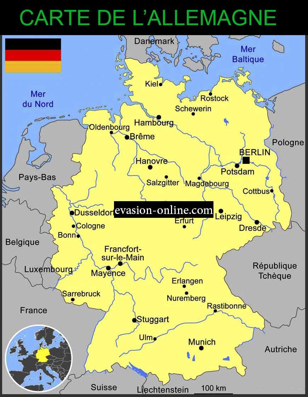 Carte Allemagne Geographique.Carte Allemagne Vacances Arts Guides Voyages