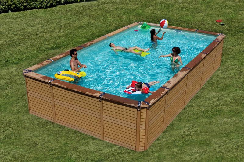 piscine hors sol rectangulaire acier