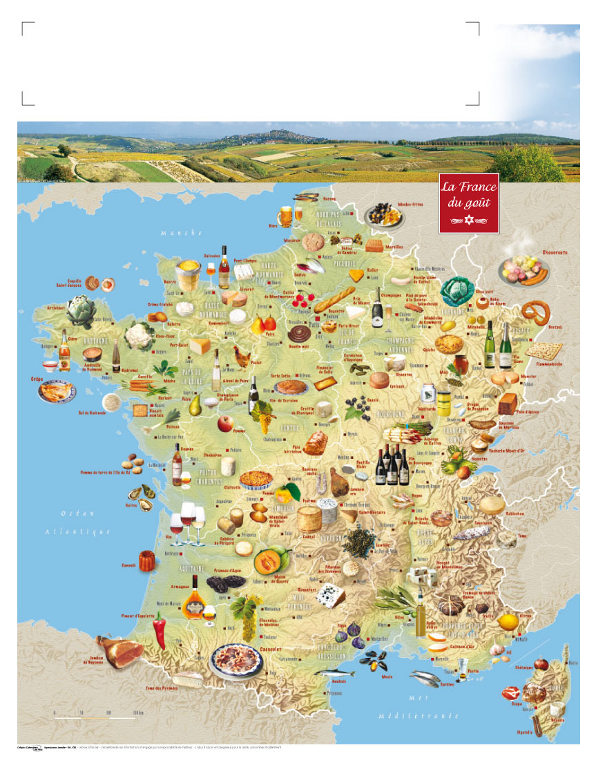 Carte des spécialités de France