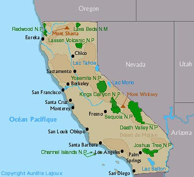 californie - carte - map