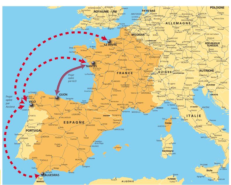 Carte France Espagne