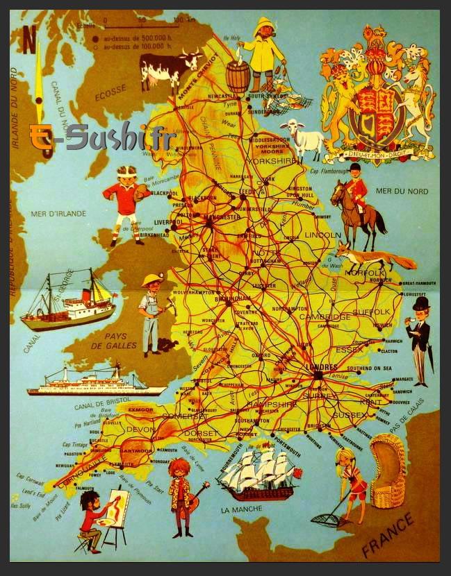 Carte du Tourisme - Angleterre