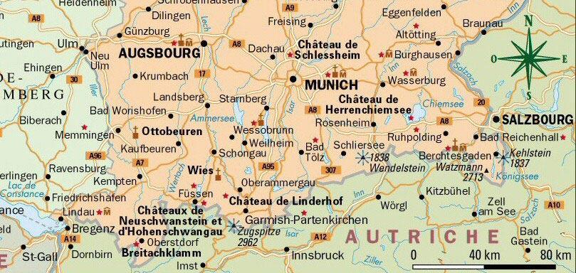 Carte Bavière