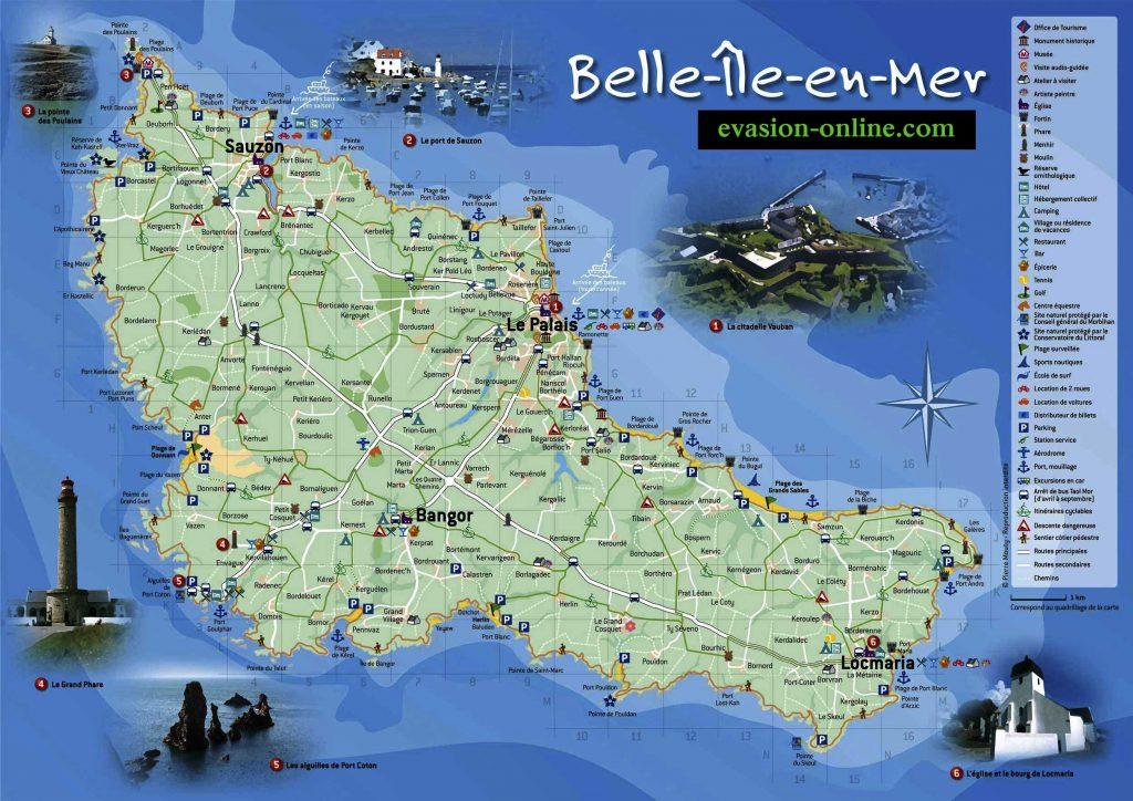 Carte de Belle île en mer