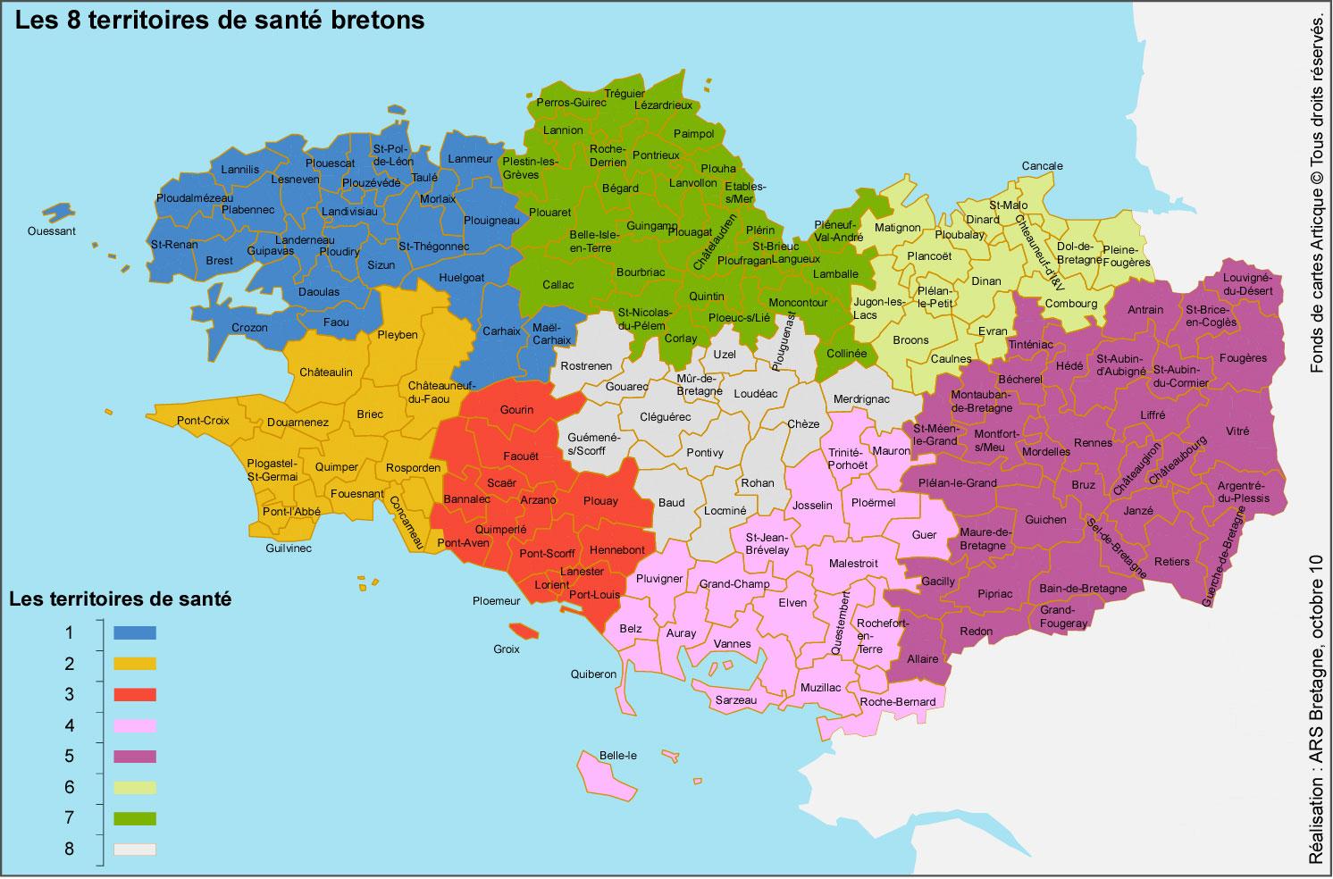 carte cantons en bretagne et territoires