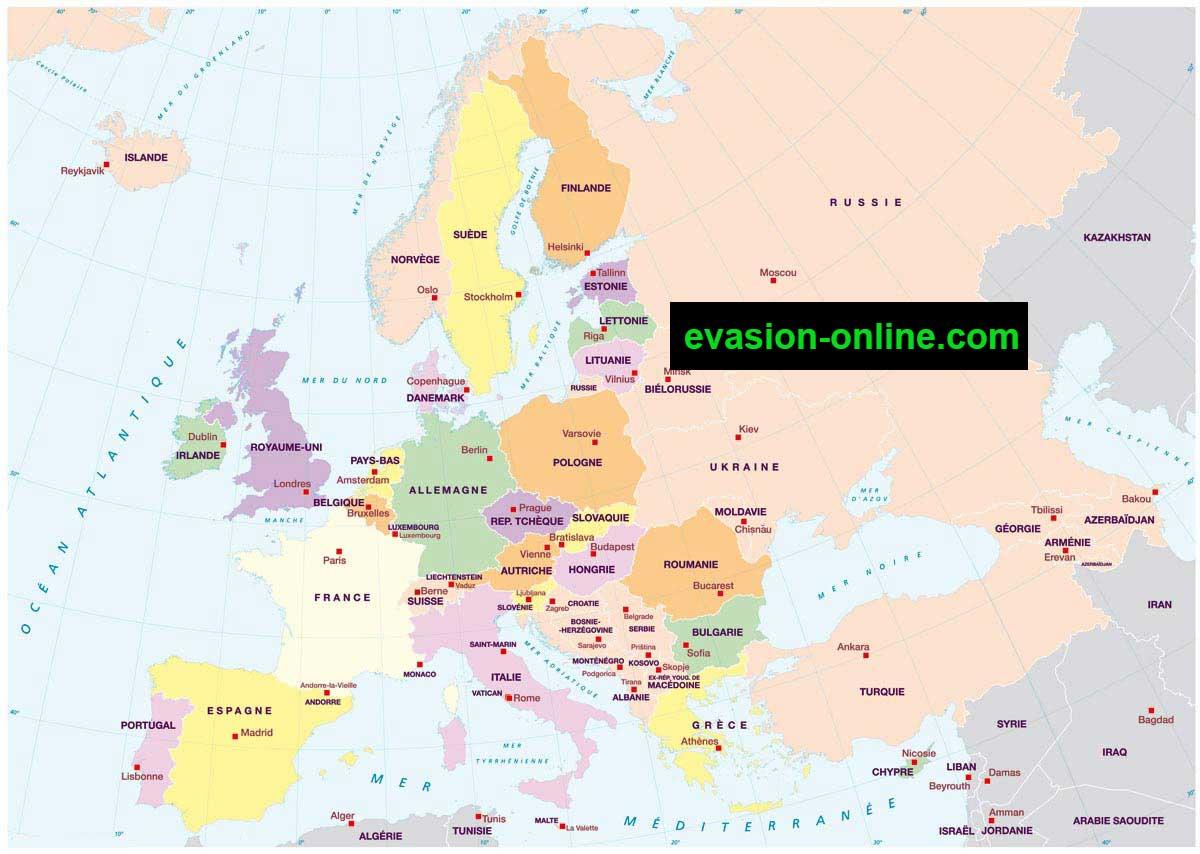 Carte Europe Du Nord En Francais.Carte D Europe Images Et Photos Vacances Arts Guides