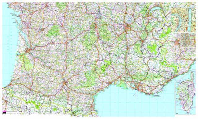 Carte détaillée du Sud de la France