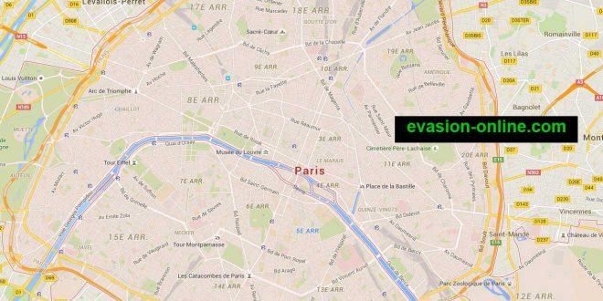 Carte de Paris - Plan