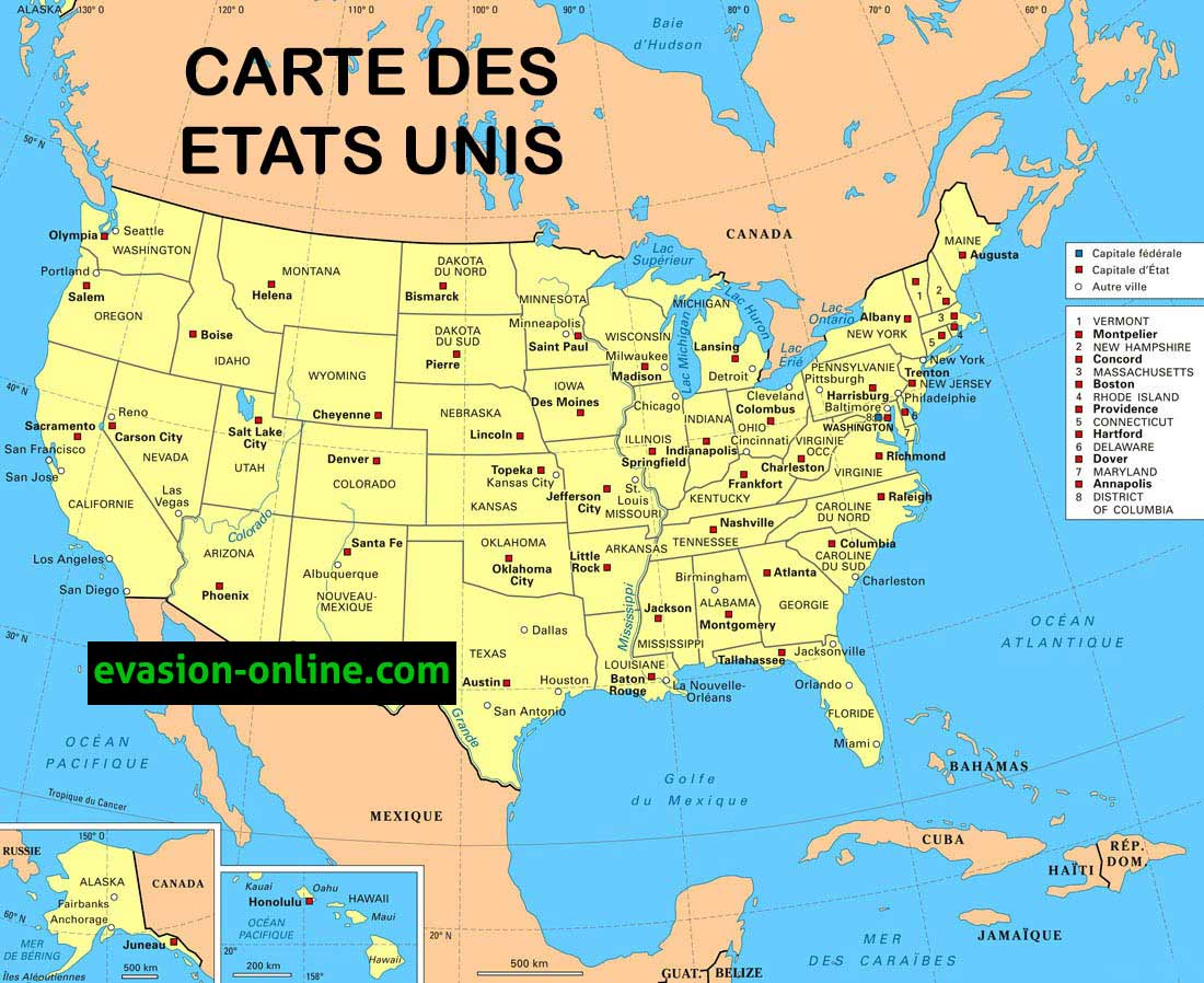 carte des etats unis chicago - Photo
