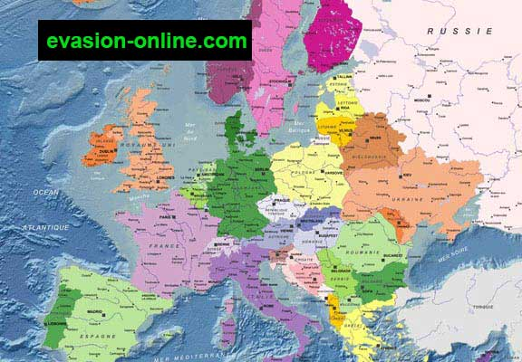 Carte d'Europe  Mercator