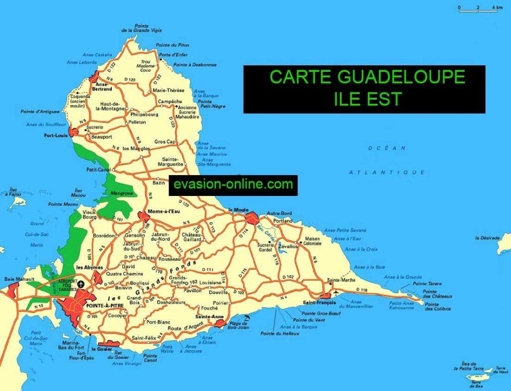 Cartede la Guadeloupe-Est