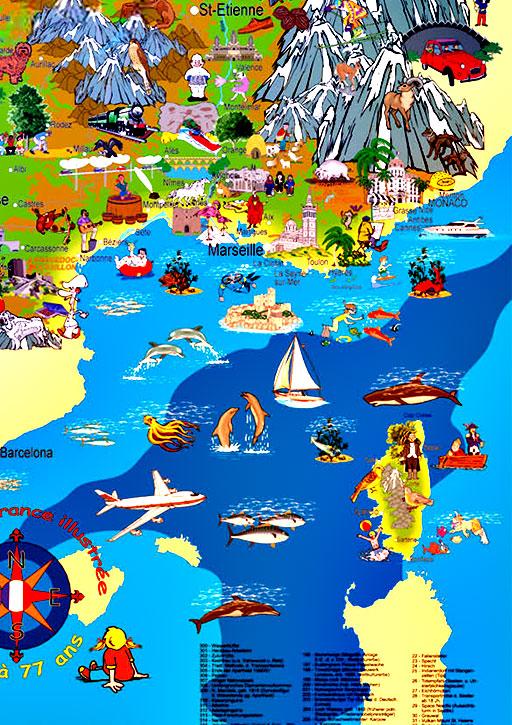 carte-france-touristique-quart-sud-est