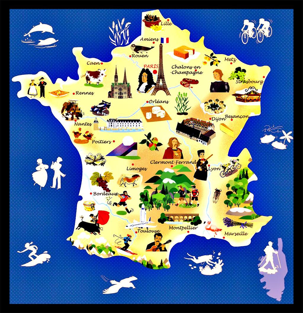 Carte des Villes du tourisme en France