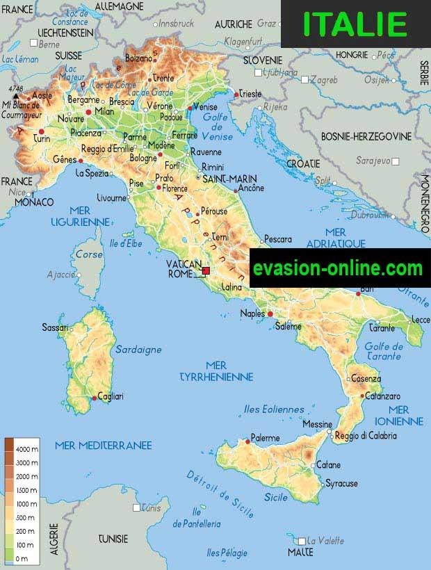 Carte Italie Voyage