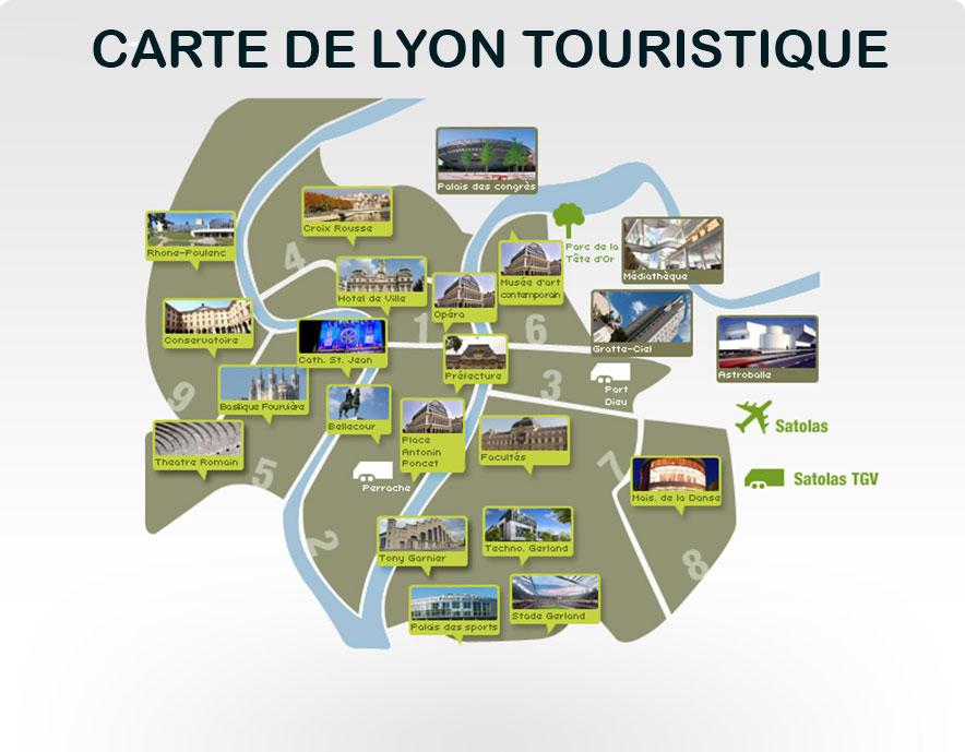 carte touristique - Lyon