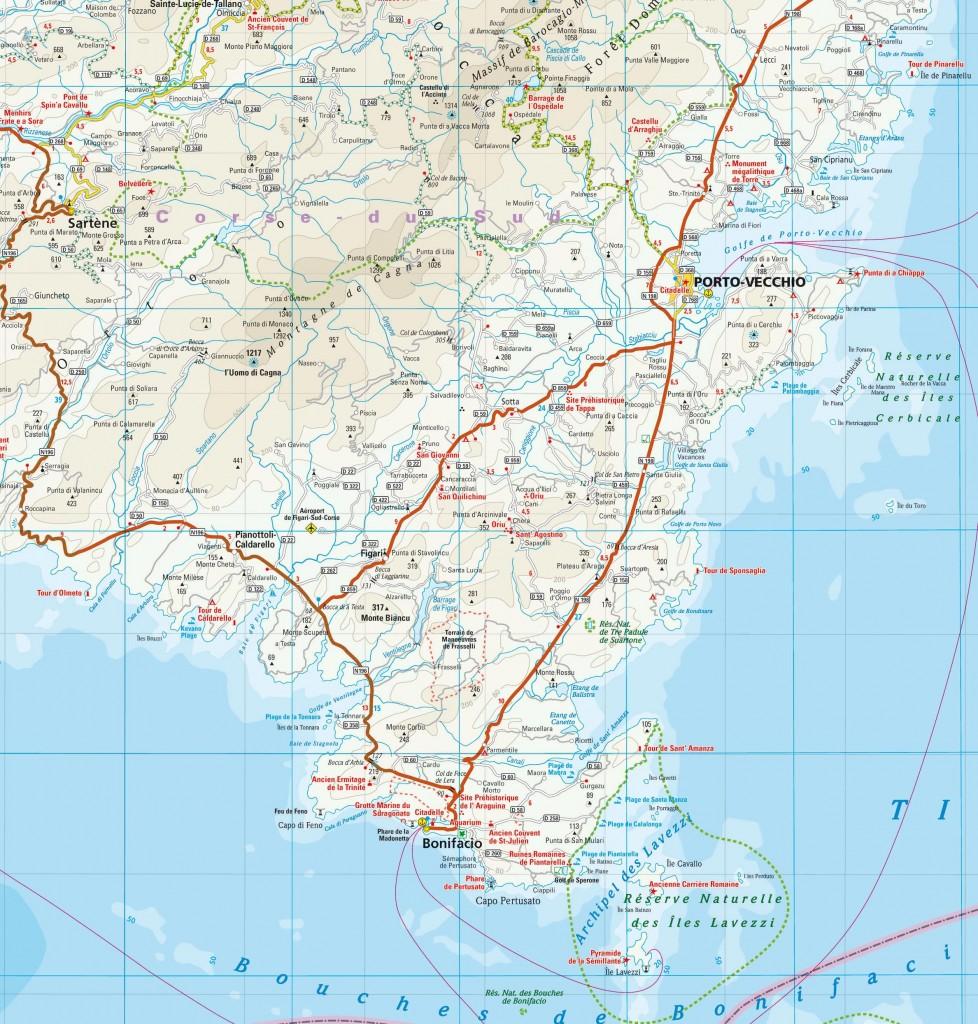 Carte de Corse du Sud
