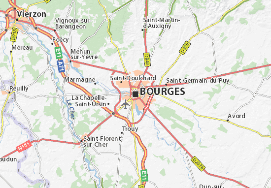 Carte de Bourges