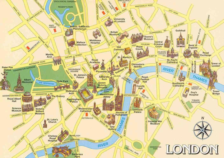 carte touristique Londres
