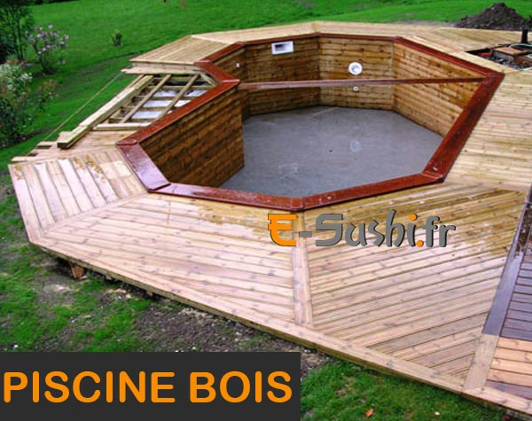 Piscine structure bois for Construction piscine