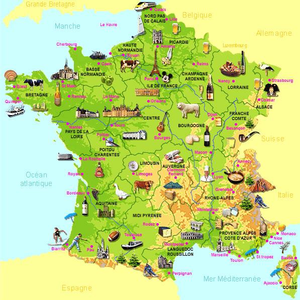 La France du Terroir - Carte des spécialités
