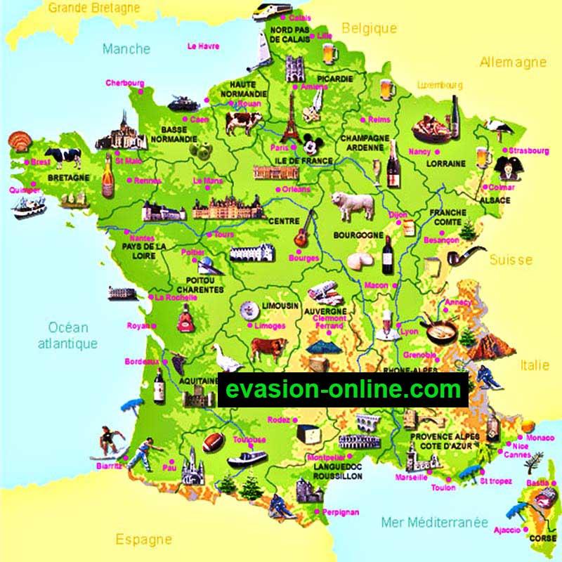 Images de Plans et Cartes de France » Vacances - Guide Voyage