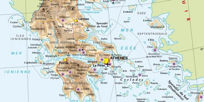 Grèce - Carte
