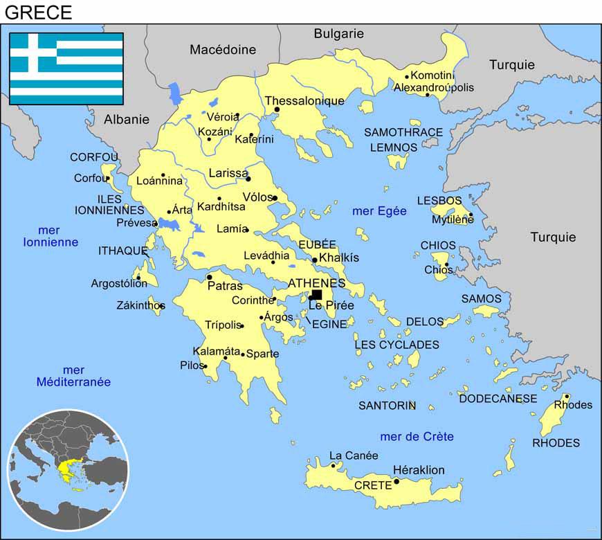 La grèce et ses villes