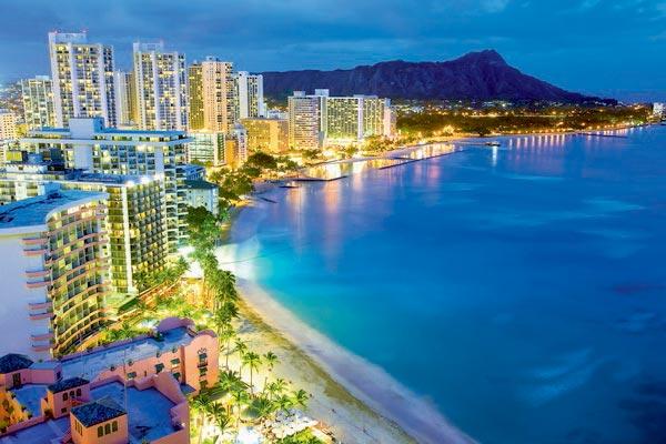 hawaii photo de nuit