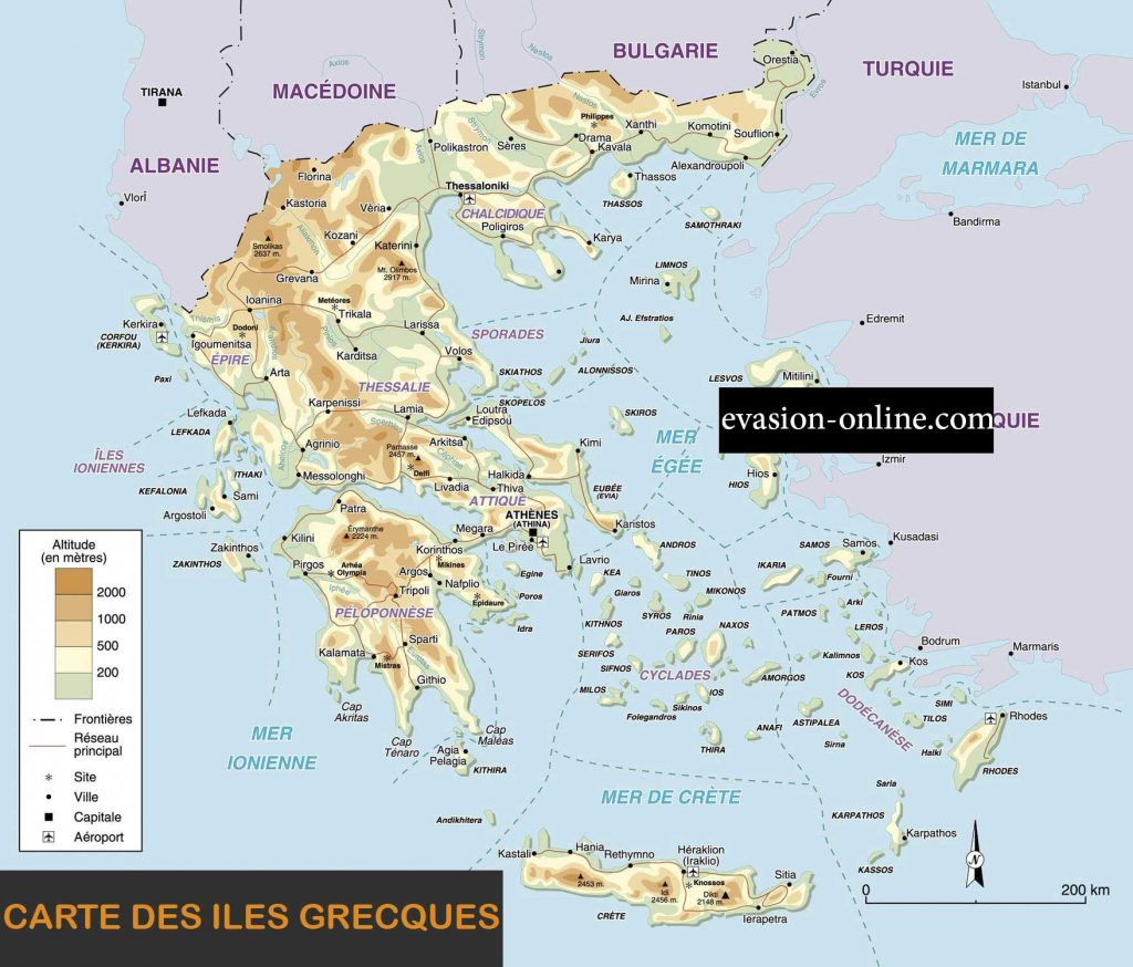 Iles-grecques - Carte