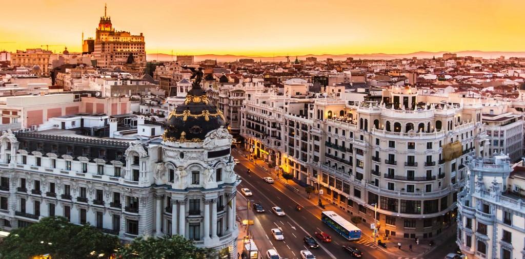 Madrid - photo de la ville de nuit