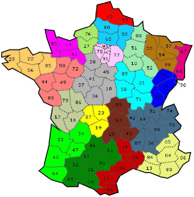 carte de france avec numéro département Images de Plans et Cartes de France » Vacances   Arts  Guides Voyages