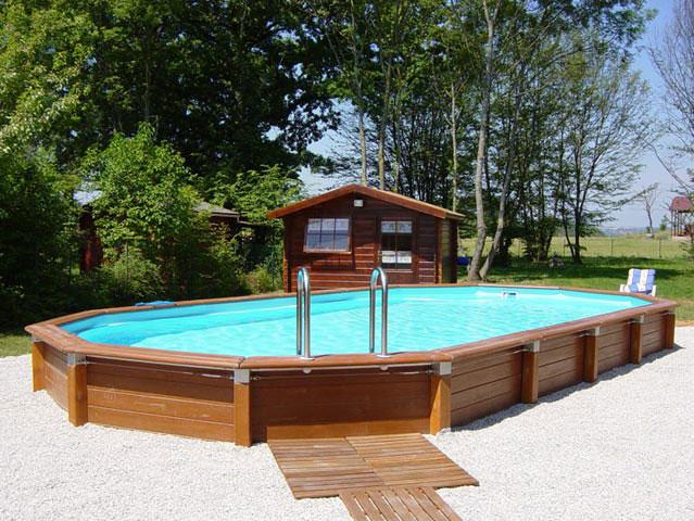 piscine hors sol avec abri