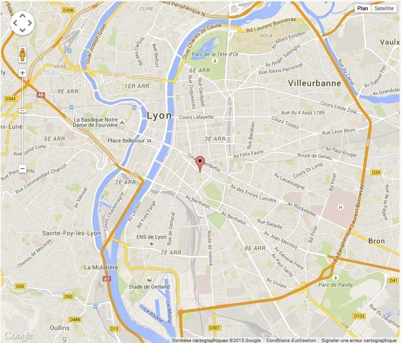 plan détaillée de villeurbanne-lyon
