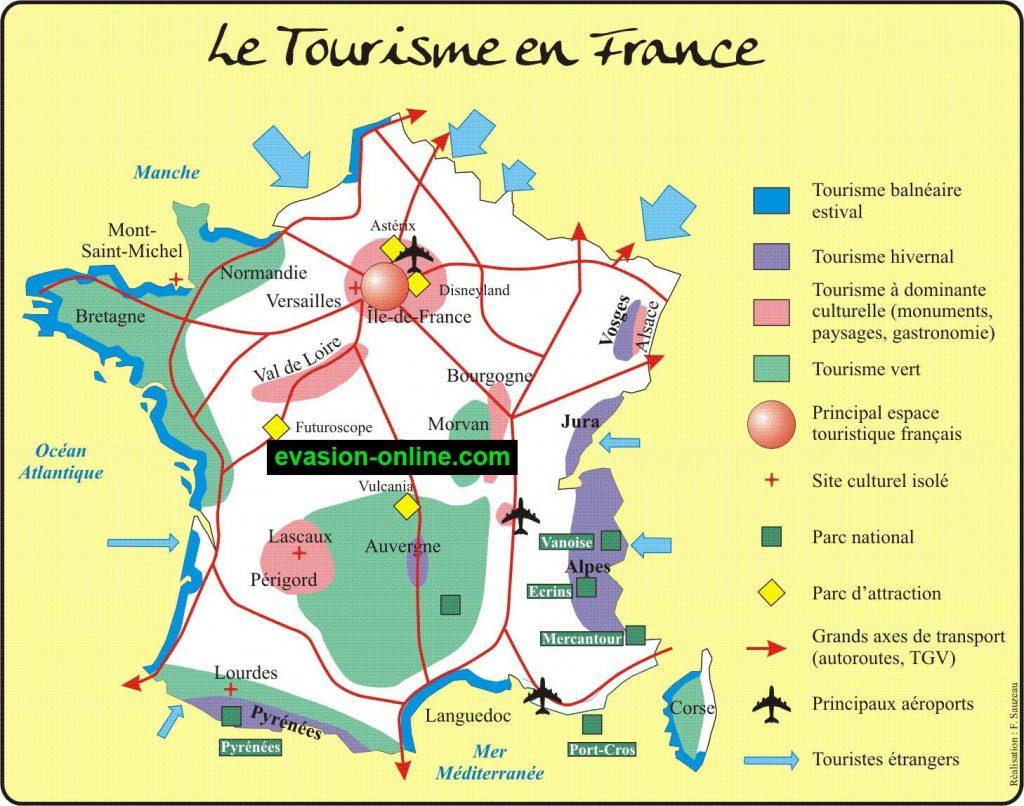 France Tourisme - Carte