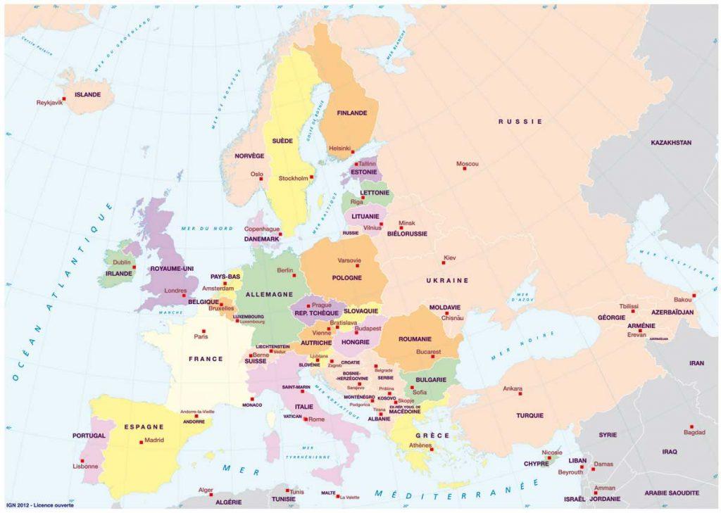 capitales de l'Europe