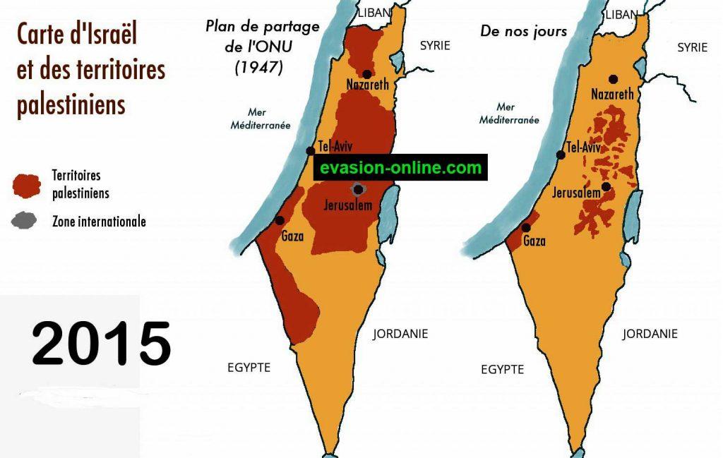 carte israel palestine 2016