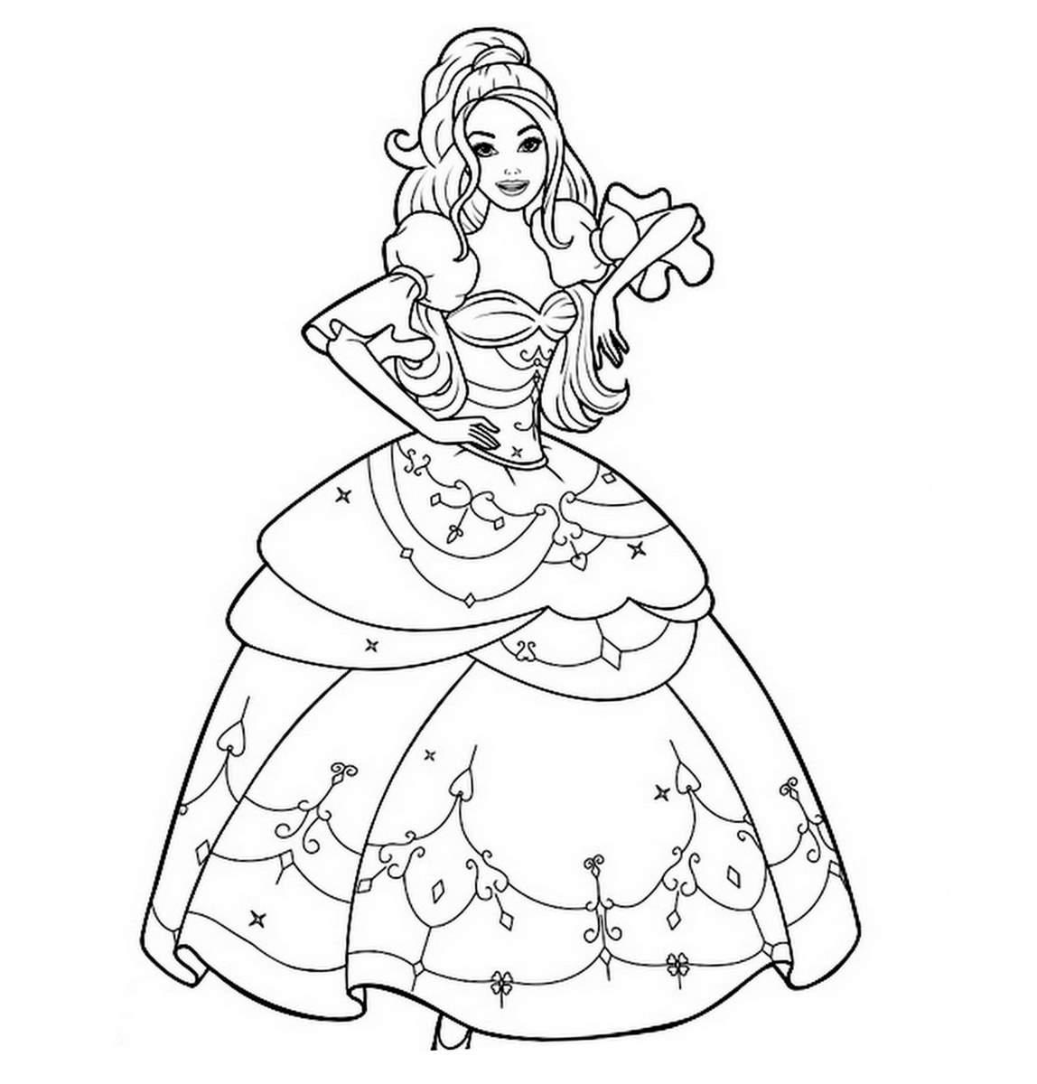 imprimer le coloriage princesse
