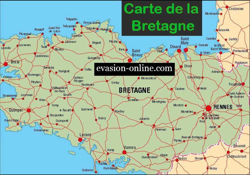 Carte de la Bretagnedu Nord