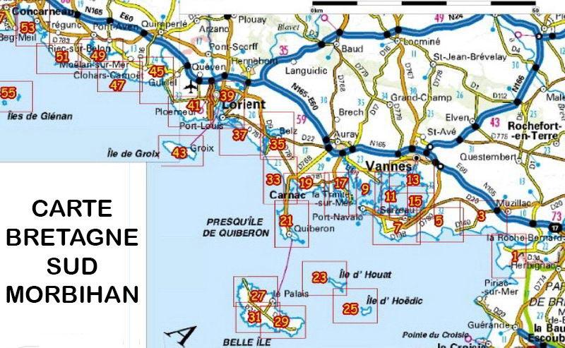 carte bretagne sud images