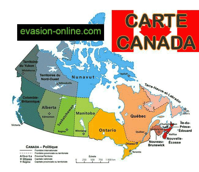 Canada - Carte