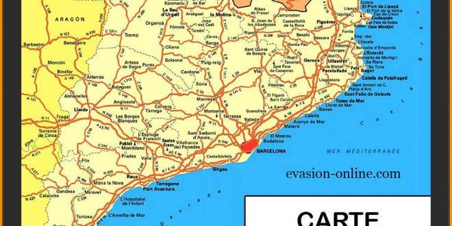 Espagne costa carte détaillée » Vacances   Arts  Guides Voyages