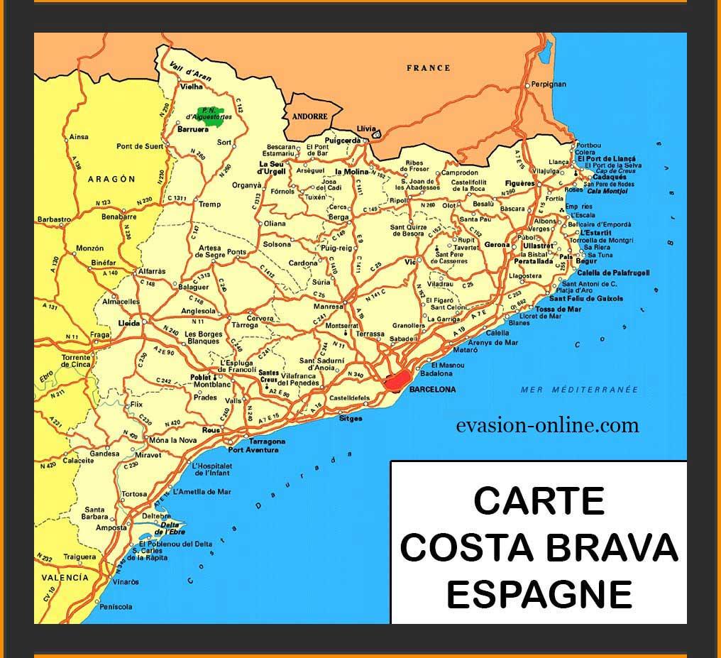 carte espagne costa images