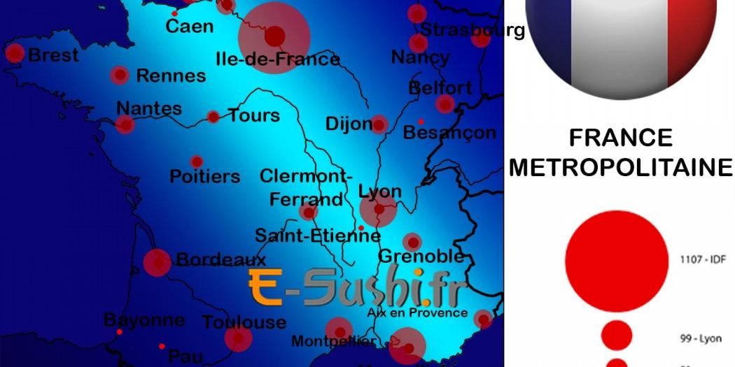 Carte de France Métropolitaine