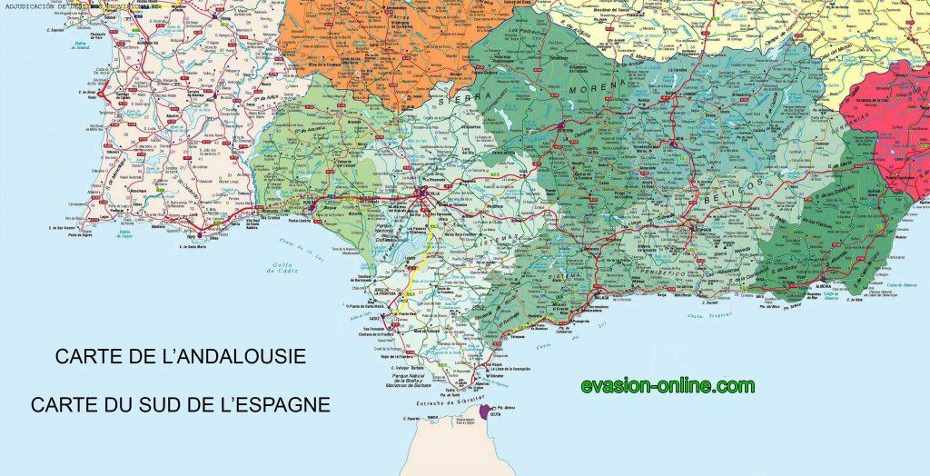 Carte routière Andalousie