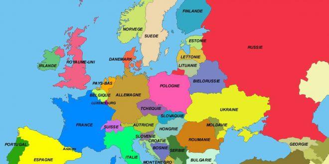 Carte Europe français