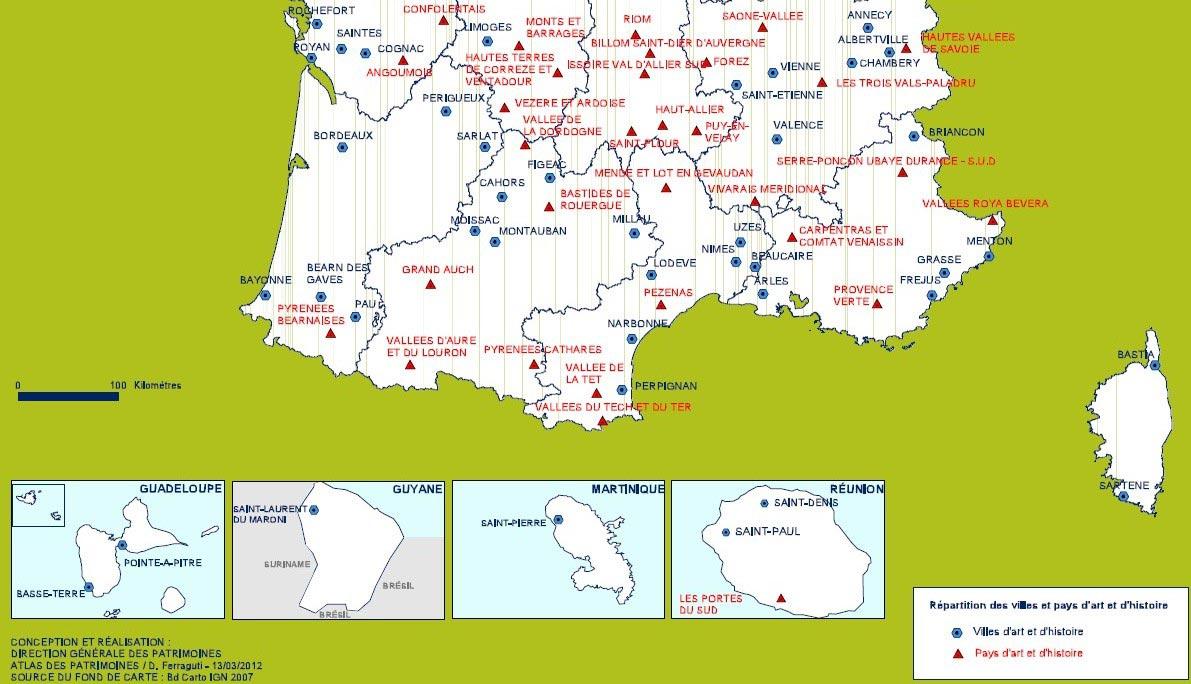 carte de france ville du sud
