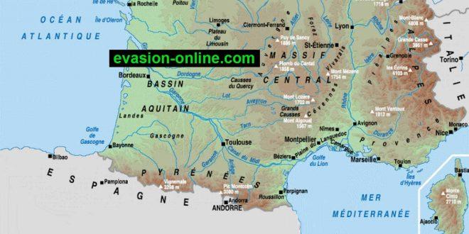 Carte de la France du Sud