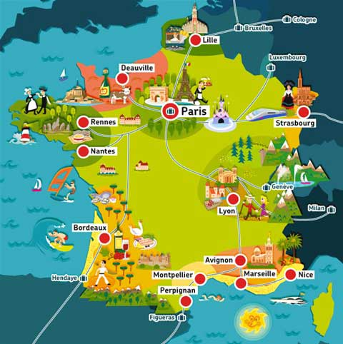 Voyage en France - Carte